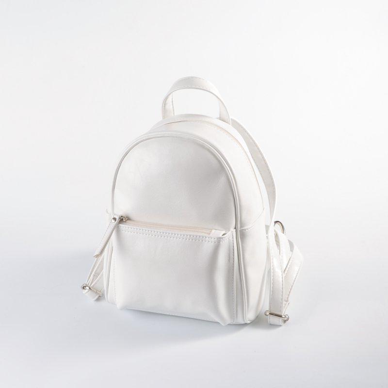 1a4b5932863e Маленький белый рюкзак М124-79 женский городской белоснежный, фото 1