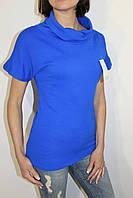 Свитер женский синий с коротким рукавом