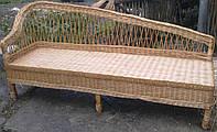 Плетеный диван на балкон