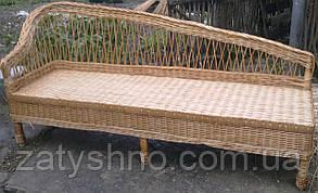 Плетений диван на балкон