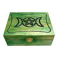 Шкатулка Триединая Богиня (зелёная)