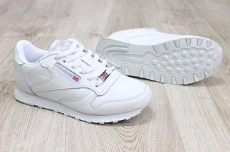Кроссовки женские Reebok Classic.Белые,кожа, 36-41 р-р, фото 3