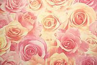 """Обои флизелиновые  """"с розами"""" в гостиную, розовые, 1 Х 10 – Палитра 714-55"""