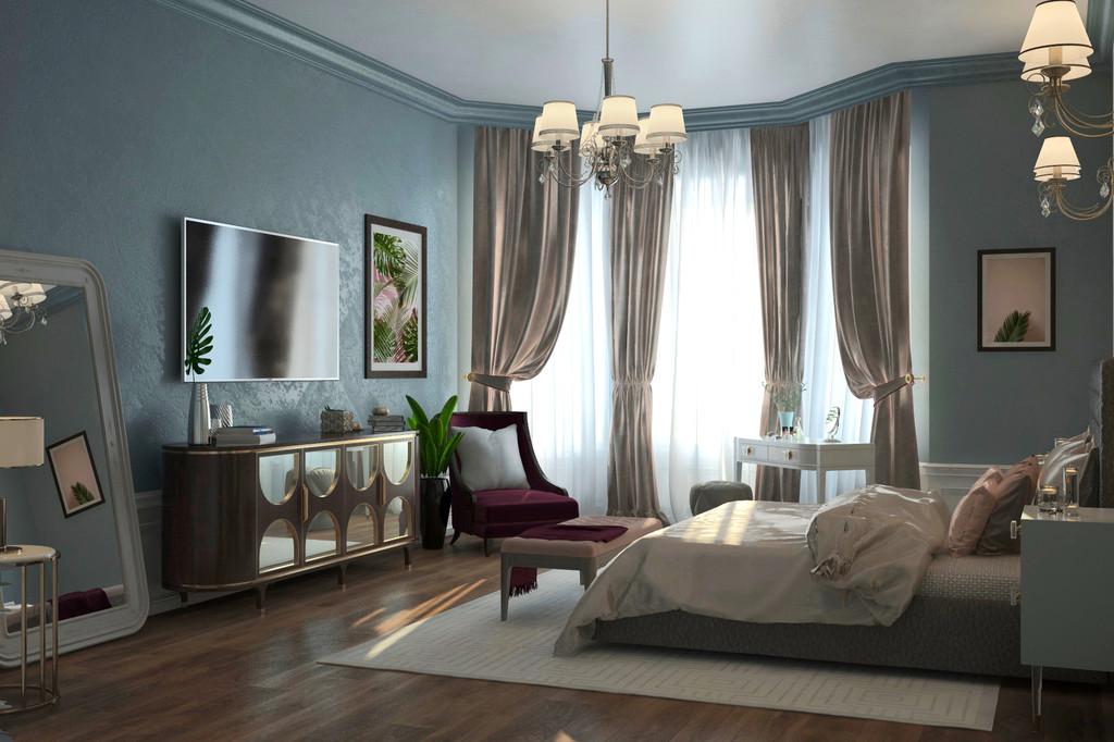Вторая спальня двухэтажного дома