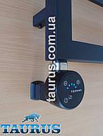 """Чёрный ТЭН MOA IR MS black с маскировкой провода, + регулятор + таймер 2ч. + под пульт ДУ + звук. Польша, 1/2"""""""
