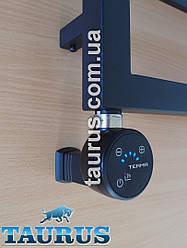 Чёрный ТЭН MOA IR MS black с маскировкой провода + регулятор 30-65С + таймер 2ч. + под пульт ДУ + звук. Польша