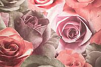 """Обои флизелиновые  """"с розами"""" в гостиную, розовые, 1 Х 10 – Палитра 714-45"""