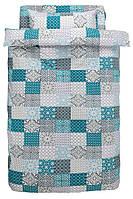 Комплект постельного белья  (100% хлопок), не требует глажки. 140х200 см
