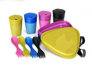 Набор посуды для кемпинга на 4 человека LIGHT MY FIRE DiningKit 4 Person Peacock 41739210, фото 2