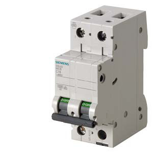 Автоматический выключатель Siemens Sentron  (400В, 6кA, 2-пол, C, 3A), 5SL6203-7