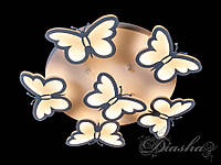 Детская потолочная люстра с бабочками 8067/5+1 WH