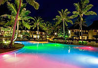 Подсветка разноцветная новогодняя светомузыкальная фонтана и бассейна герметичная в комплекте с блоком питания