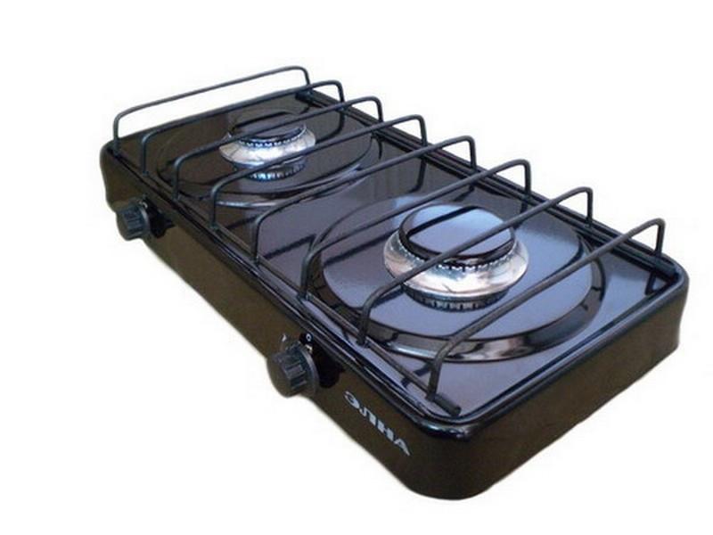 Газовая плита двухконфорочная без крышки(ЕЛНА)
