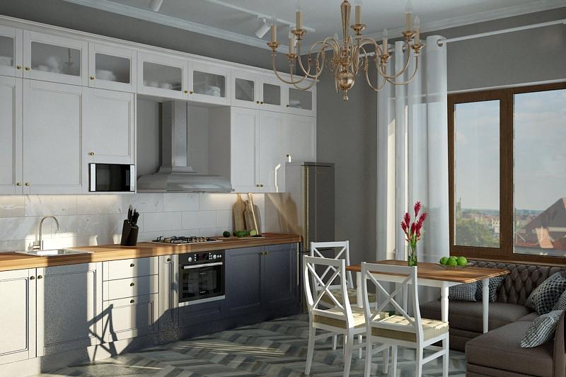 Вторая кухня двухэтажного дома 2