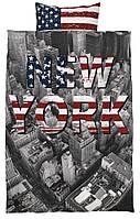 Комплект детского постельного белья с прином NEW YORK (100% хлопок) 140х200 см.