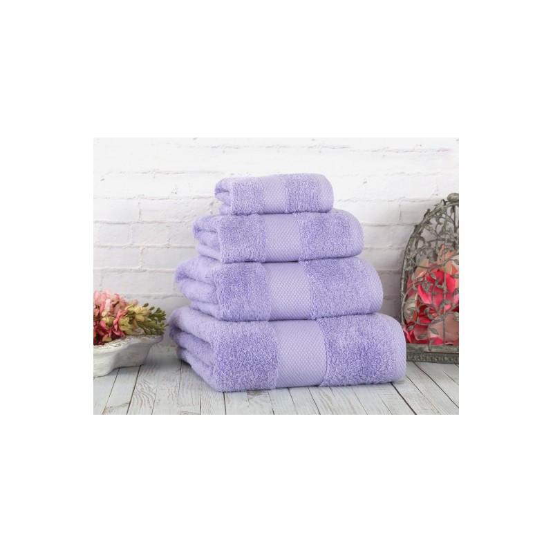 Полотенце Irya - Damla coresoft lila лиловый  70*130 см
