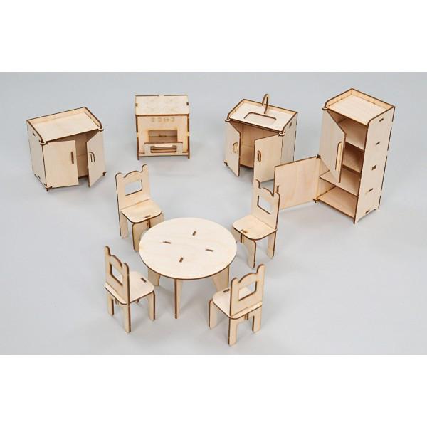 Набор игровой кукольной мебели Кухня Премиум