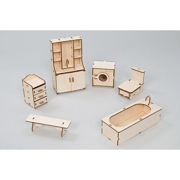 Набор игровой кукольной мебели Ванная Премиум