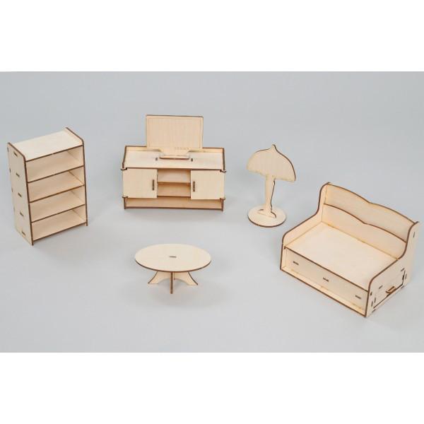 Набор игровой кукольной мебели Гостинная Премиум