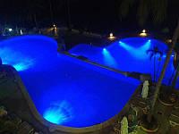 Подсветка светомузыкальная фонтана и бассейна герметичная блок питания и пультом переключение цветов