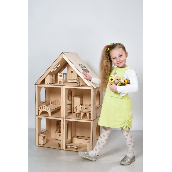 Домик для кукол Большой особняк для Барби