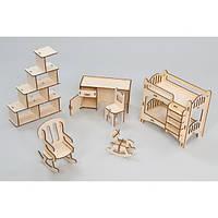 Набор игровой кукольной мебели Детская