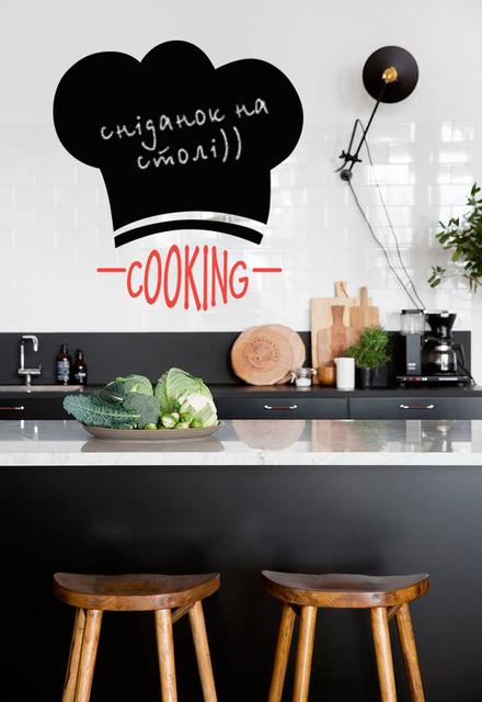 Наклейка для рисования мелом Колпак повара (самоклеющаяся пленка)