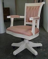 """Деревянное кресло для кабинета  """"Оксфорд"""", фото 3"""