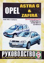 OPEL ASTRA G & ZAFIRA Модели 1998-2005гг. Дизель Руководство по ремонту и эксплуатации