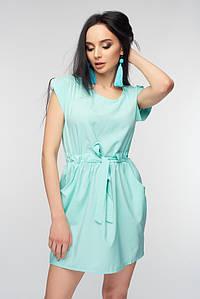 Женское летнее бирюзовое платье (7321 br)