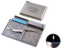 """Портсигар в подарочной упаковке с зажигалкой на 20 сигарет """"Indian"""" №3306-6"""