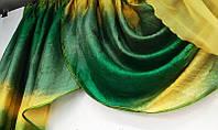 Ламбрекен жатка на карниз 3 м. Зелёный с жёлтым, фото 1