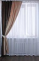 "Комбинированая (одна) штора из ткани блекаут ""Софт"".(2*2,65м)Код 014дк(У)"