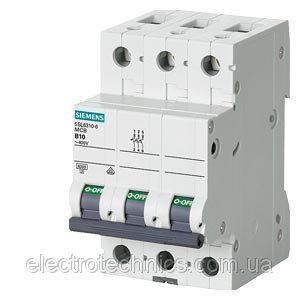 Автоматический выключатель Siemens Sentron  (400В, 6кA, 3-пол, B, 50A), 5SL6350-6