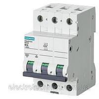 Автоматический выключатель Siemens Sentron  (400В, 6кA, 3-пол, B, 50A), 5SL6302-7