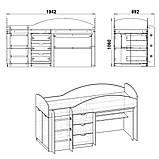 Универсал кровать чердак ДСП (Компанит) 892х1942х1060мм, фото 8