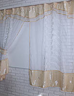 Кухонная занавесь, шторки гардина с подвязками е530