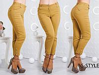 Женские летние штаны. Размеры 48-58. Горчица