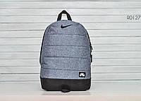 Рюкзак городской спортивный мужской, женский / серый меланж