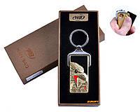 """Зажигалка-брелок """"Орлы"""" (USB, спираль накаливания) №4824B-2"""
