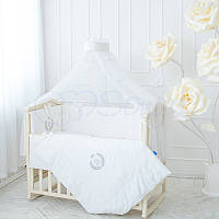 Дитячий постільний комплект з 7 елементів De Lux, білий, фото 1