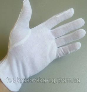Перчатка х/б белая официант, фото 2