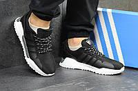 Кроссовки мужские черные Adidas 4957, фото 1