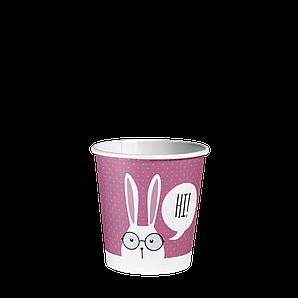 """Стакан паперовий 110мл. """"Зайці"""" 50шт (84/4200) Рожевий"""