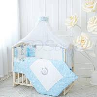 Детский постельный комплект из 7 элементов De Lux,голубой, фото 1