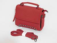 Мини сумочка-клатч нубук цвет бордо, фото 1