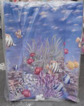 Пеленатор на детскую кроватку с ножками ограничителями Рыбы