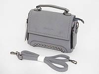 Мини сумочка-клатч нубук цвет серый, фото 1