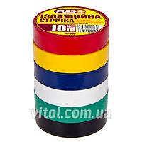 Изоляционная лента PULSO PVC (ІС 10А), длина 10 м, ассорти, ПВХ, изолента, липкая лента, изоляционный материал, электроизоляционная лента