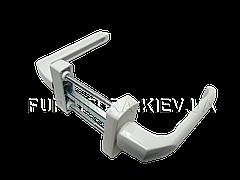 Балконная ручка двухсторонняя белая